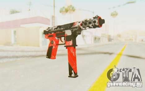 Tec-9 Neural Red для GTA San Andreas