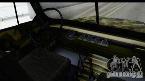 УАЗ-469 Военная полиция Сербии для GTA San Andreas вид изнутри