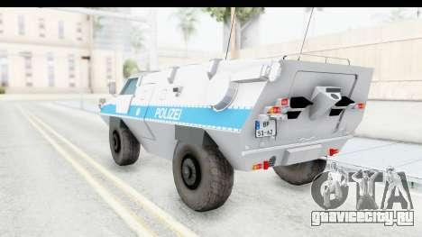 Hermelin TM170 Polizei для GTA San Andreas вид слева