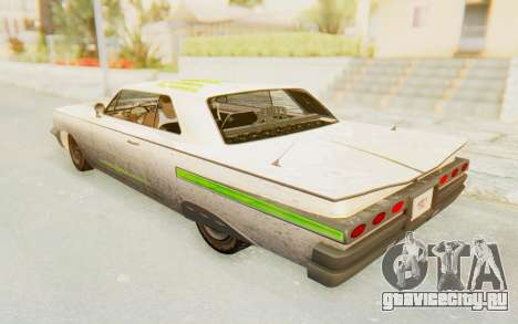 GTA 5 Declasse Voodoo Alternative v2 PJ для GTA San Andreas вид снизу