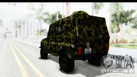 УАЗ-469 Военная полиция Сербии для GTA San Andreas вид слева