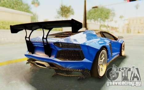 Lamborghini Aventador LP700-4 LB Walk Fenders для GTA San Andreas вид изнутри