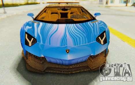 Lamborghini Aventador LP700-4 LB Walk Fenders для GTA San Andreas вид сбоку