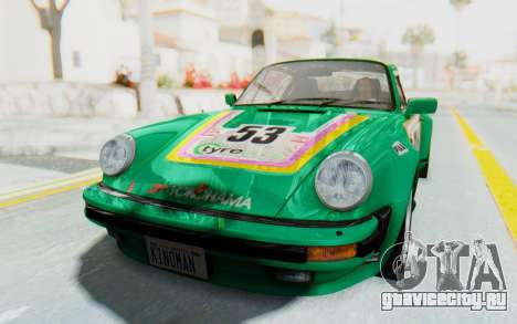 Porsche 911 Turbo 3.2 Coupe (930) 1985 для GTA San Andreas вид изнутри