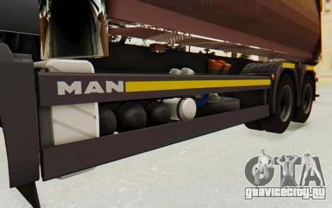 MAN TGA Energrom Edition v2 для GTA San Andreas вид изнутри
