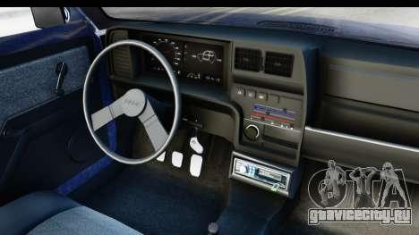 Fiat 147 Spazio TR Stock для GTA San Andreas вид изнутри