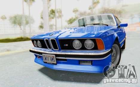 BMW M635 CSi (E24) 1984 HQLM PJ1 для GTA San Andreas вид справа