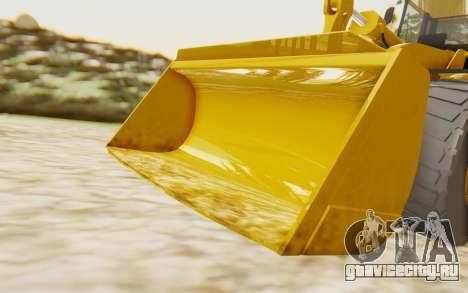 Caterpillar 966 GII для GTA San Andreas вид сзади