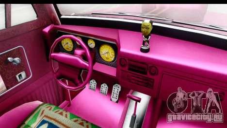 GTA 5 Vapid Slamvan Custom IVF для GTA San Andreas вид изнутри