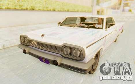 GTA 5 Declasse Voodoo Alternative v2 для GTA San Andreas вид снизу