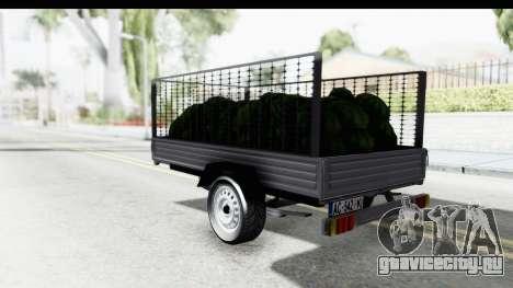 Volkswagen T4 Trailer для GTA San Andreas вид слева