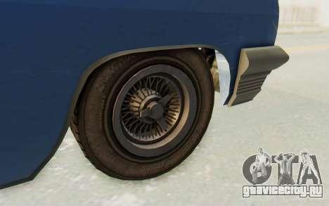 GTA 5 Declasse Voodoo Alternative v2 PJ для GTA San Andreas вид сзади
