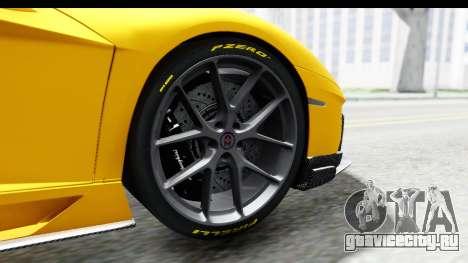 Lamborghini Aventador LP700-4 LB Walk для GTA San Andreas вид изнутри