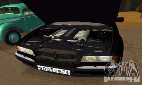BMW 740i E38 для GTA San Andreas вид снизу