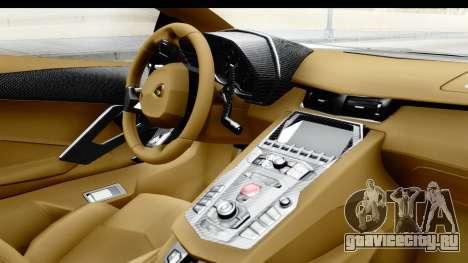 Lamborghini Aventador LP700-4 Novitec Torado для GTA San Andreas вид справа