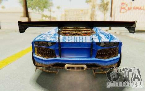 Lamborghini Aventador LP700-4 LB Walk Fenders для GTA San Andreas вид снизу