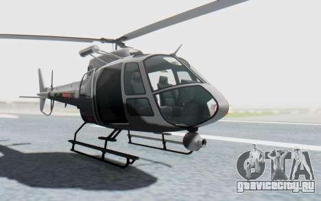 GTA 5 News Chopper Style Weazel News для GTA San Andreas вид справа