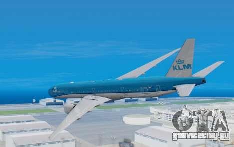 Boeing 777-300ER KLM - Royal Dutch Airlines v5 для GTA San Andreas вид справа