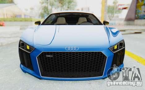 Audi R8 V10 Plus 2017 для GTA San Andreas вид снизу