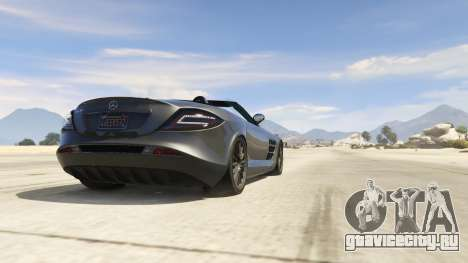 Mercedes-Benz SLR 722s Roadster & Mansory для GTA 5 вид справа