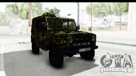 УАЗ-469 Военная полиция Сербии для GTA San Andreas вид справа