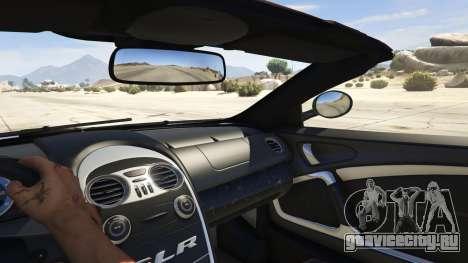 Mercedes-Benz SLR 722s Roadster & Mansory для GTA 5 вид сзади справа