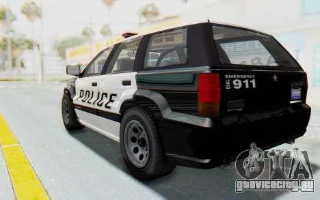Canis Seminole Police Car для GTA San Andreas вид слева