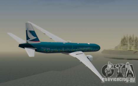 Boeing 777-300ER Cathay Pacific Airways v2 для GTA San Andreas вид слева