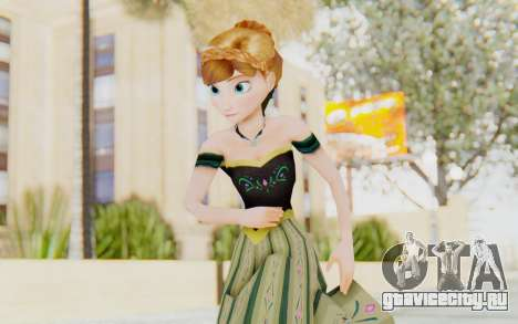 Frozen - Anna Coronation Dress для GTA San Andreas