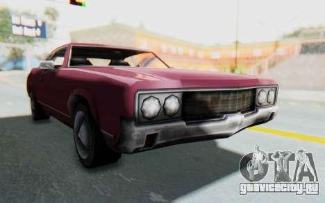 GTA VC Sabre для GTA San Andreas вид сзади слева