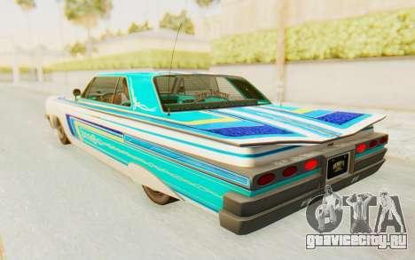 GTA 5 Declasse Voodoo для GTA San Andreas вид сверху