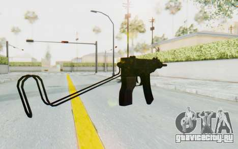 VZ-61 Skorpion Unfold Stock Green Flecktarn Camo для GTA San Andreas второй скриншот