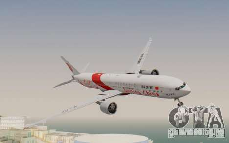 Boeing 777-300ER China Air для GTA San Andreas вид сзади слева