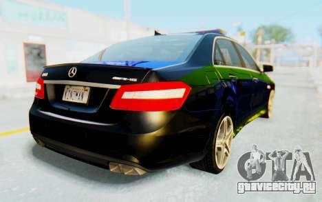 Mercedes-Benz E63 German Police Blue-Yellow для GTA San Andreas вид слева