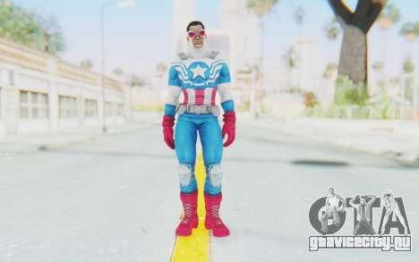 Marvel Heroes - Capitan America Sam Wilson для GTA San Andreas второй скриншот