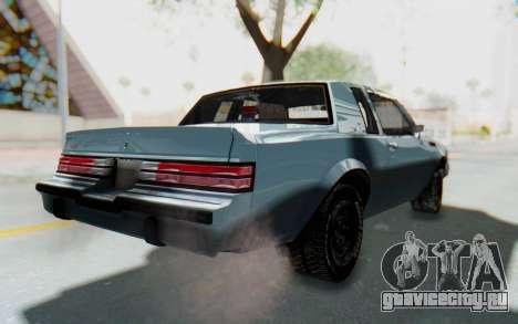 Buick GNX 1987 для GTA San Andreas вид сзади слева