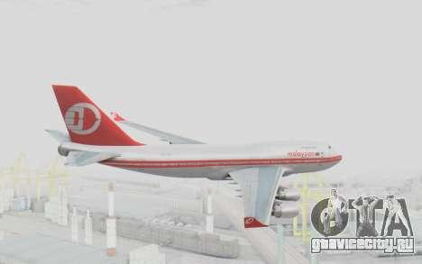 Boeing 747-200 Malaysia Airlines для GTA San Andreas вид справа
