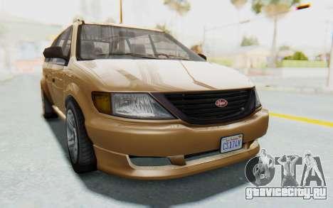 GTA 5 Vapid Minivan для GTA San Andreas вид сзади слева