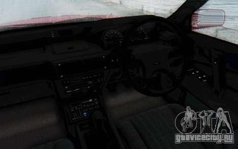 Mitsubishi Galant VR4 1992 для GTA San Andreas вид изнутри