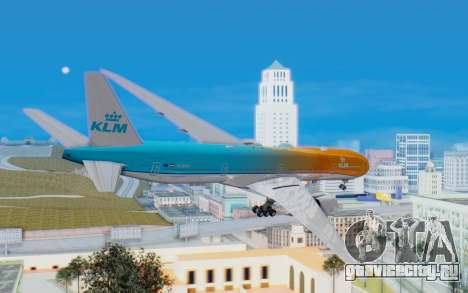 Boeing 777-300ER KLM - Royal Dutch Airlines v4 для GTA San Andreas вид справа