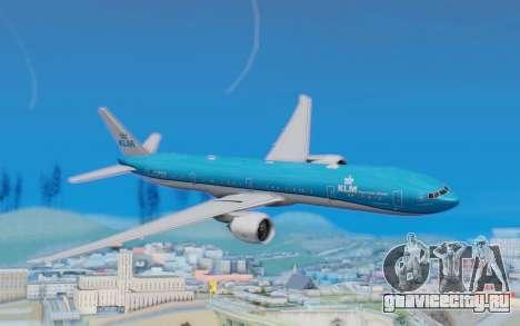 Boeing 777-300ER KLM - Royal Dutch Airlines v5 для GTA San Andreas
