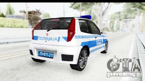 Fiat Punto Mk2 Policija для GTA San Andreas вид слева
