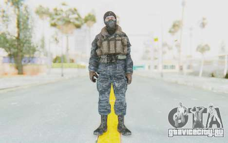 COD BO Russian Soldier Winter Balaclava для GTA San Andreas второй скриншот