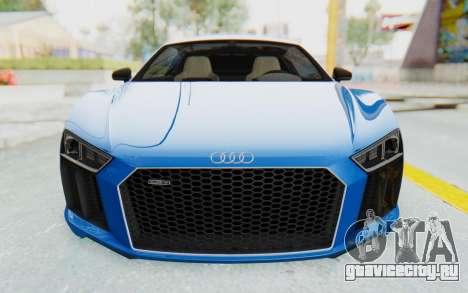 Audi R8 V10 Plus 2017 для GTA San Andreas вид сверху