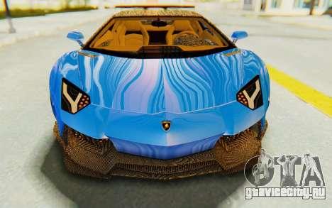 Lamborghini Aventador LP700-4 LB Walk Fenders для GTA San Andreas вид сверху