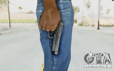 Tariq Iraqi Pistol Back v1 Silver для GTA San Andreas третий скриншот
