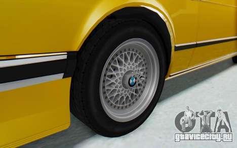 BMW M635 CSi (E24) 1984 HQLM PJ2 для GTA San Andreas вид сзади