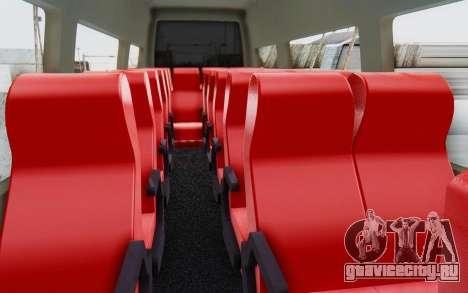 Iveco Daily Minibus 2015 для GTA San Andreas вид изнутри