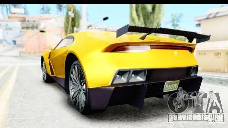 GTA 5 Pegassi Reaper v2 IVF для GTA San Andreas вид сзади слева