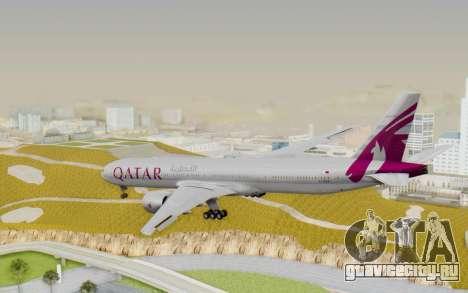 Boeing 777-300ER Qatar Airways v1 для GTA San Andreas вид слева